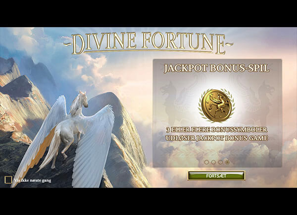 Divine Fortune intro screen