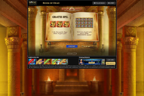 Royal Casino Book of Dead slot