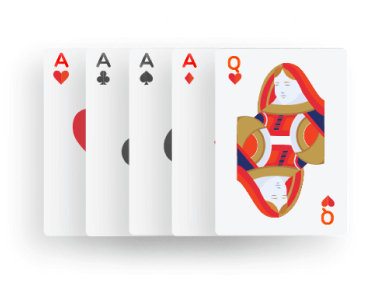 Poker - Four of a kind combination