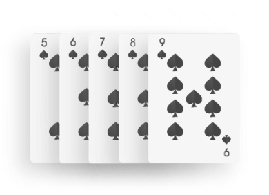 Poker - Strait Flush combination