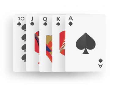 Poker - royal flush combination