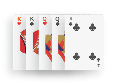 Poker - Two pairs combination